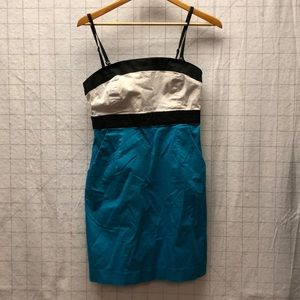 New York and Company color block dress strapless